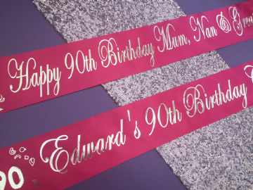 90th Birthday Banner Personalised
